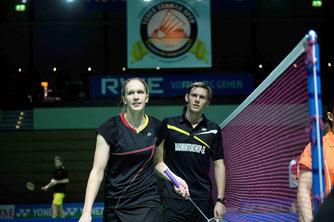Sichtlich enttäuscht: Marvin Seidel und Linda Efler (Bild: Bernd Bauer)
