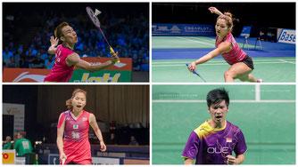 Diese Badmintonspieler waren Fahnenträger (Bilder: Bernd Bauer)