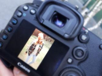 Canon Kamera inkl. Portraitvorschau