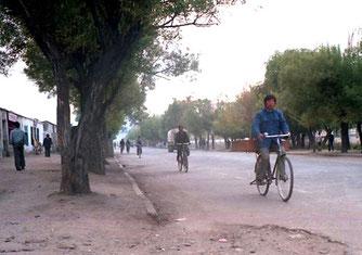 noch kaum Verkehr in Lhasa