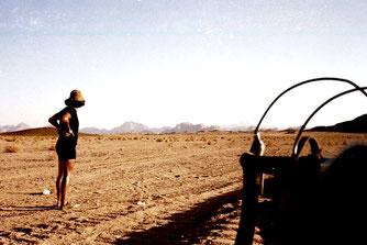 am Horizont zu sehen, der Berg Sinai
