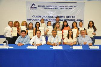 Logrando Alianzas con la Cámara Nacional de Comercio Servicio y Turismo de Playa del Carmen men.