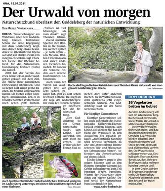 """""""Der Urwald von morgen"""", HNA-Bericht vom 15.07.2011"""