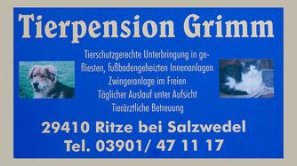 Tierpension Grimm Öffnungszeiten