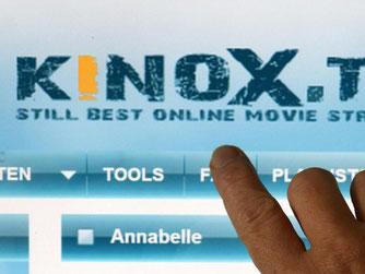 Startseite der Internetplattform Kinox.to. Foto: Matthias Hiekel