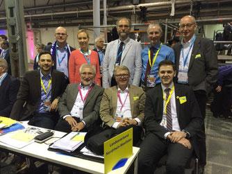 Die Delegierten aus Ostwestfalen-Lippe mit Hermann Ludewig (hinten rechts) und Patrick Büker (vorne rechts)
