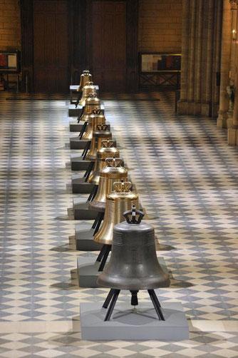 Les 9 nouvelles cloches de Notre-Dame de Paris
