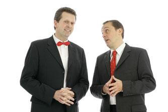 Kabarettisten Funke (rechts) & Rüther (links)