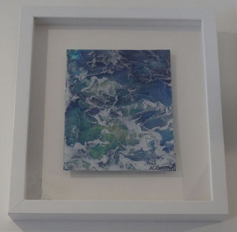 Seascape - Encaustic Wax Painting - by Anne Berendt