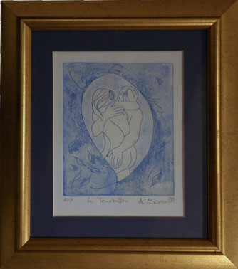 Le Tourbillon - Etching with aquatint by Ann Berendt