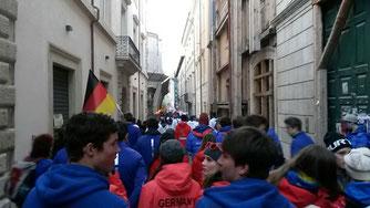 Eröffnungsfeier mit deutscher Fahne