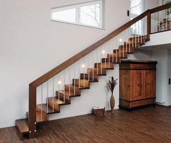 Treppenmodell LINEA - eines von 4 modernen und puristischen Treppenmodellen von BUCHER - www.bucher-treppen.de