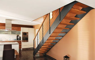 Treppenmodell LOFT - eines von 4 modernen und puristischen Treppenmodellen von BUCHER - www.bucher-treppen.de