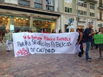 Protesta contra la precariedad laboral del sector