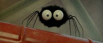 登場キャラクターの1つ「クモ」の姿は、スタジオジブリのあの有名キャラクターのビジュアルそのもの!