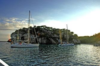Bucht im Süden Menorcas