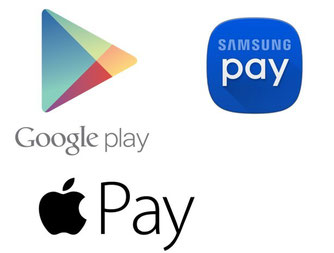 Paiement objets connectés Apple Pay, Samsung Pay, Android Pay