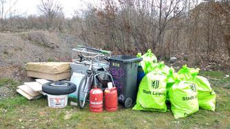 Ergebnis der Müllsammelaktion.