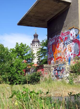 Wilde Orte in der Stadt: der Wilhelm-Leuschner-Platz. Foto: Karsten Peterlein