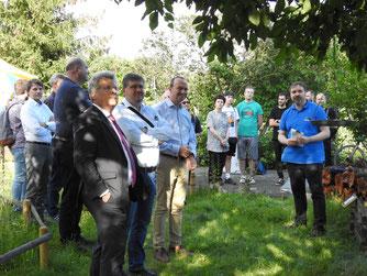 Unter den Gästen zum Projektstart war auch Sachsens Umweltminister Wolfram Günther. Foto: Beatrice Jeschke