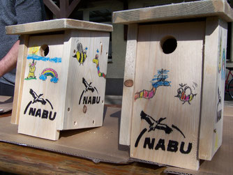 Kreative Vogelhauskonstruktionen. Foto: NABU Plaußig-Portitz