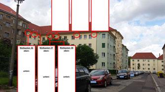 Mauersegler-Nisthilfen in der Credéstraße. Foto: NABU Leipzig