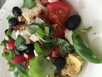 Salat mit Olivenöl