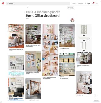 Pinterest Moodboard Raumeinrichtung und Arbeitsplatz