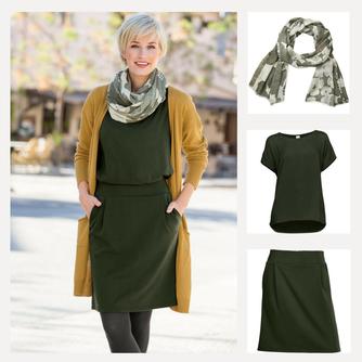 Outfit in Currytönen für Frühlingstyp und Herbsttyp