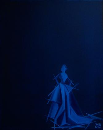 « Etc … »  41/33 cm  Huile sur toile