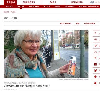 Video: rbb aktuell | 06.10.16 | Katrin Hampel