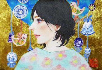 「春を待つ」日本画 SM