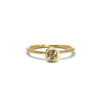 Ein Brocken Glück Rohdiamant in 750/- Gold (recycelt)
