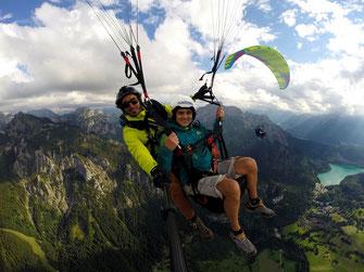 Gleitschirm Tandemflug Tegelberg Paragliding