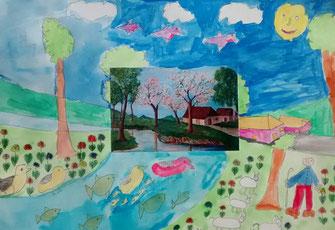 """Übung in der Kunsttherapie """"Aus einem vorgegebenen Bild Eigenes schaffen"""""""