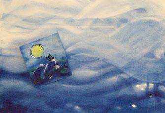 """Übung in der Kunsttherapie """"Elementübung Wasser"""""""