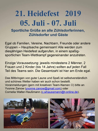 Heidefest 2019 Zühlsdorf - team-wettkampf