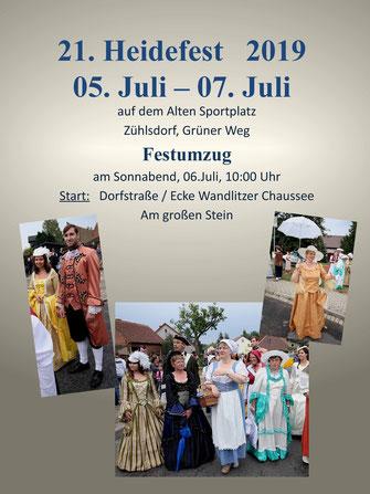 Heidefest 2019 Zühlsdorf - Festumzug