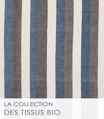 La collection des tissus unis et à rayures de La Boutique MG