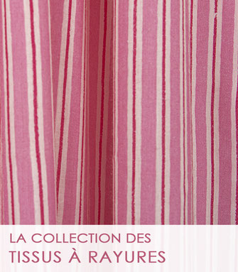 La collection des tissus en soie et en coton et soie de La Boutique MG.