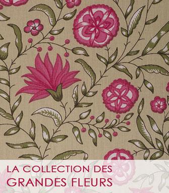 Nouvelle collection de tissu au mètre grandes fleurs 2021 de La Boutique MG