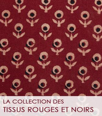 La collection des tissus rouges et noirs de La Boutique MG