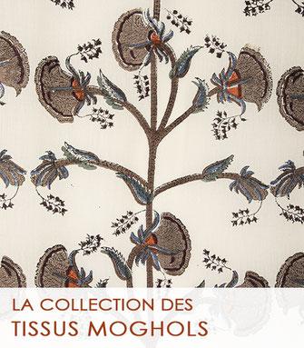 La collection des tissus kalamkari de la Boutique MG, la boutique des tissus traditionnels de l'Inde.