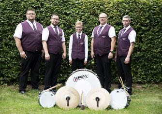 v.l: Niklas Neimeier, Patrick Hoppe, Marek Ludwig, Alex Menne, Michael Hoppe