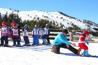Skier à la station de ski de Camurac