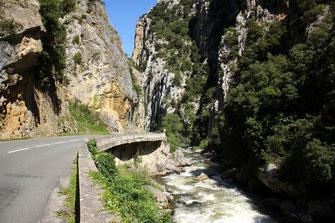 Gorges de l'Aude - Défilé de la Pierre Lys - Pyrénées Audoises