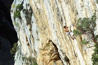 Sensation en escalade dans les Gorges de l'Aude - Pyrénées Audoises