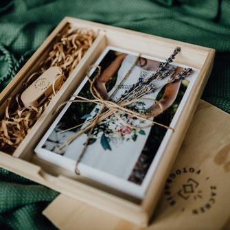 Geschenkbox Hochzeitsreportage