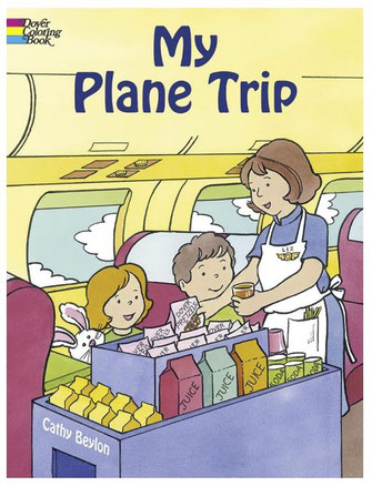 My Plane Trip Coloring Book for Toddlers 18 to 24 months