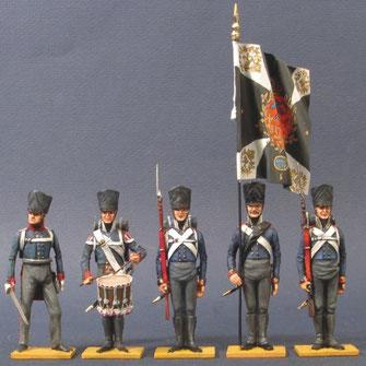Preußische Infanterie, Fahnenformation, um 1813